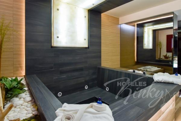 Habitación Jacuzzi $590 pesos y 6 horas de estancia por dos personas .